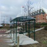 smoking shelter for the stadium of light